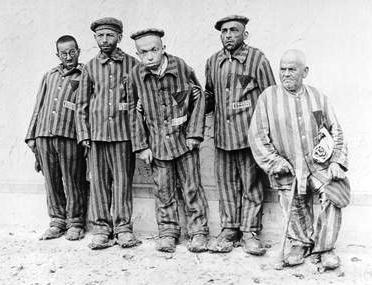 Buchenwald Disabled Jews, illustrating the black triangle