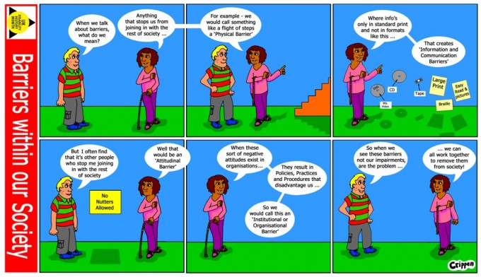 Barriers strip cartoon 1.3