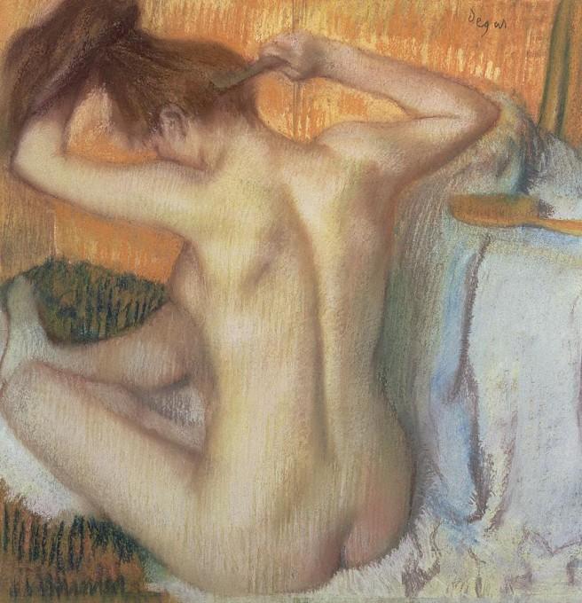 3-woman-combing-her-hair-edgar-degas 1886