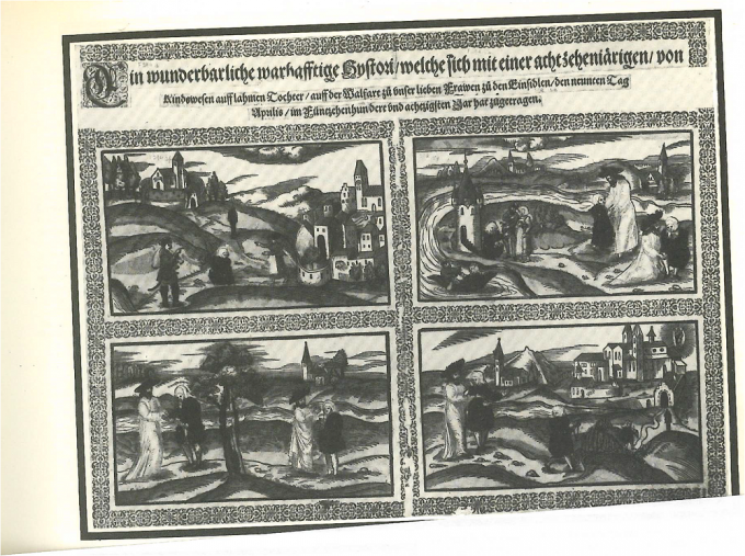 A wonderful true story of an 18 year old crippled girl at Einsiedeln 1580 Swiss