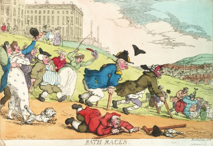 Bath Races Rowlandson 1810