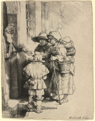 Beggars Receiving Alms at Door