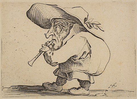 DP818534Le Joueur de Flageolet (The Flageolet Player), from Varie Figure Gobbi, 1616-20 Jaques Callot NYM