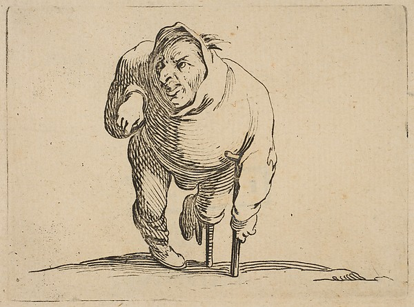 DP818577L'Estropié a la Béquille et a La Jambe de Bois (The Cripple with a Crutch and a Wooden Leg), from Varie Figure Gobbi Jaques Callot 1616