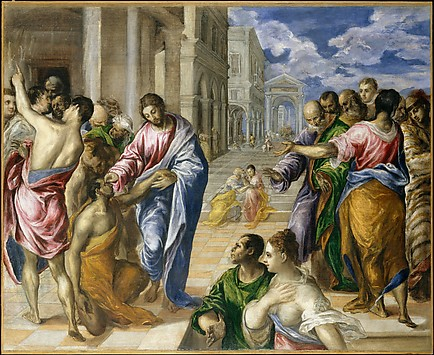 DT407 Christ Healing the Blind El Greco 1540_41–1614 Toledo 157 NYM