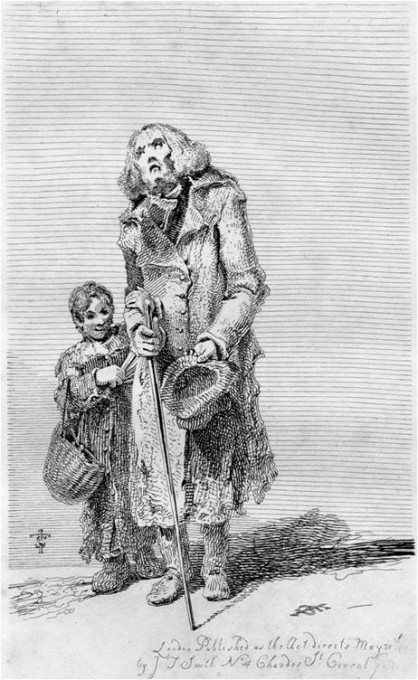 Picture29 blind beggar with stick and child