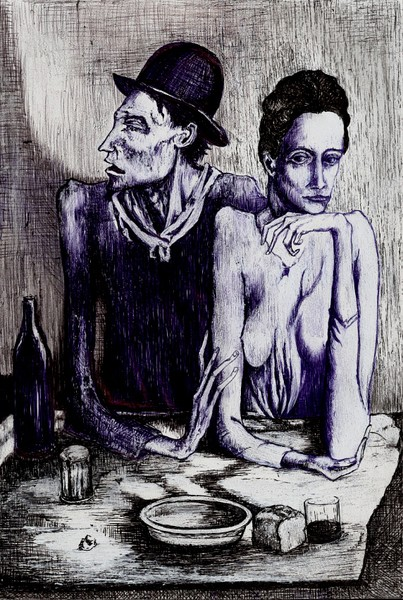 The Frugal Repast Picasso 1904