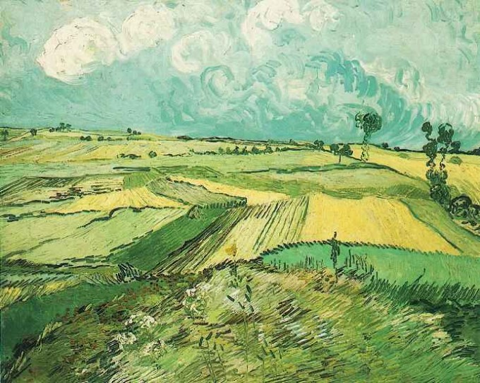 Wheat Fields at Auvers Under Clouded Sky July 1890