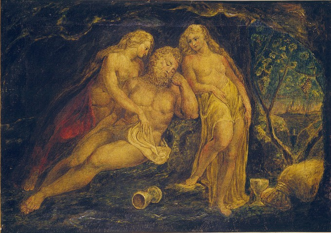 William_Blake_Lot_and_His_Daughters_Butlin_381