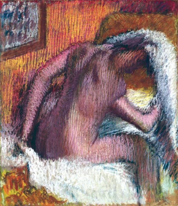 degas Woman drying her hair 1905