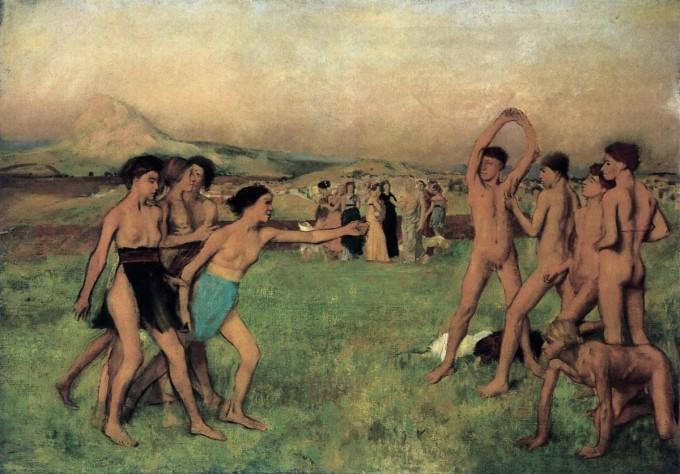 edgar-degas-young-spartans-exercising